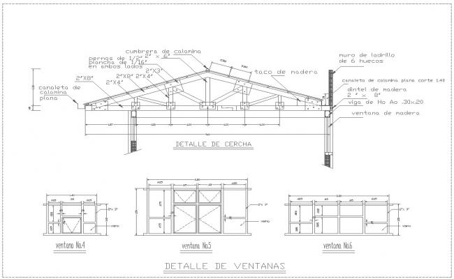 Industrial nave detail drawing