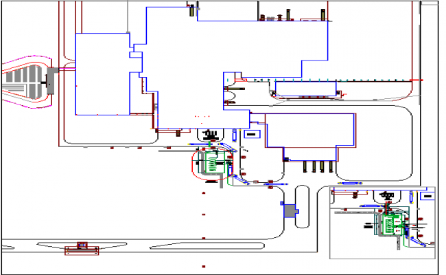 Industrial plant architecture project dwg file