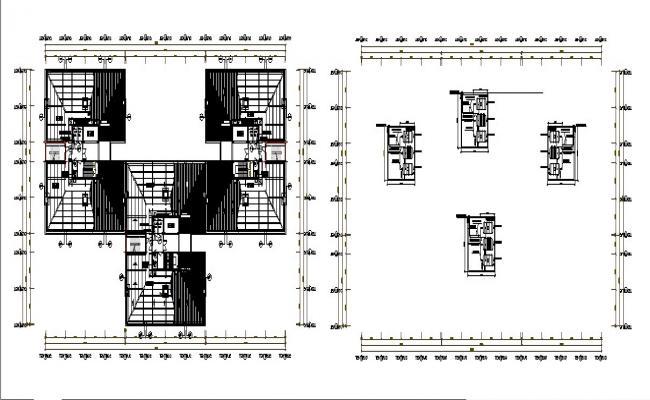 Industrial processing plant floor plan distribution details dwg file