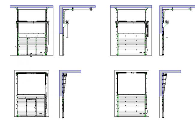 Industrial sectional door details