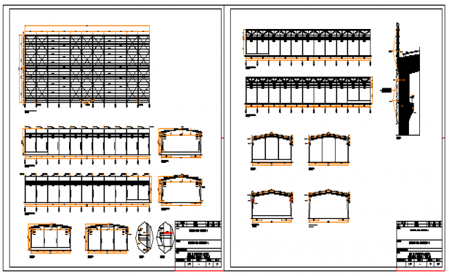 Industrial shed project design drawing