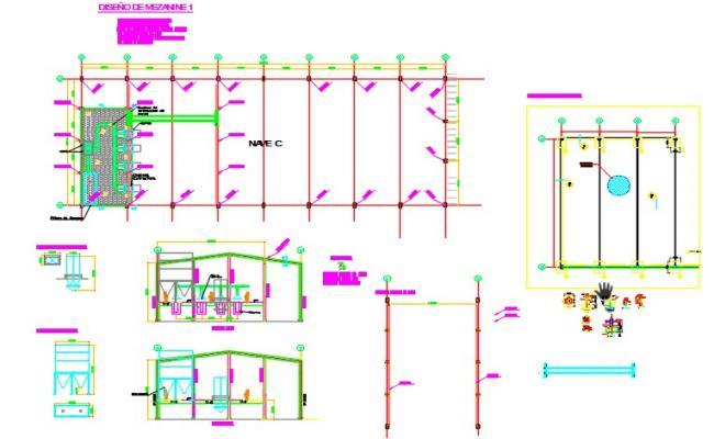 Industrial warehouse mezzanine