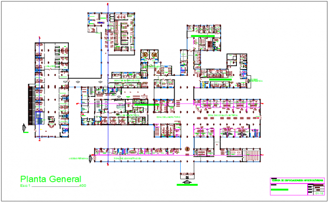 Infection specialist clinic general plan dwg file