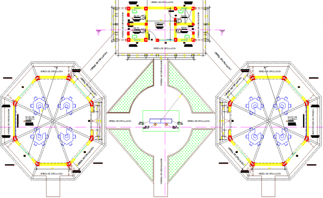 Initial center layout plan dwg file