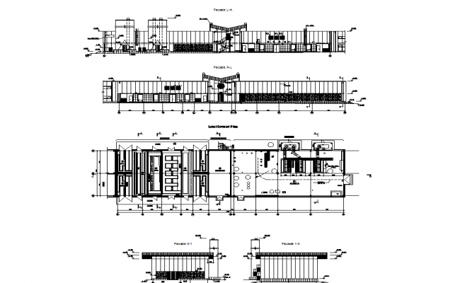 Inside interior architectural plan of building dwg file