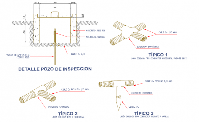 Inspection well detail dwg file