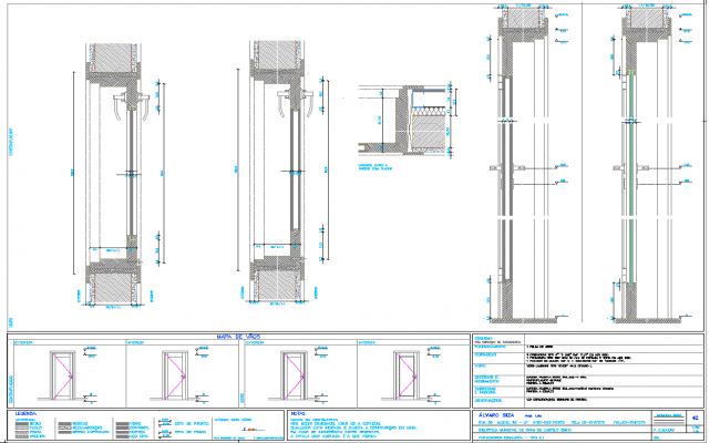 Installation Door plan dwg file