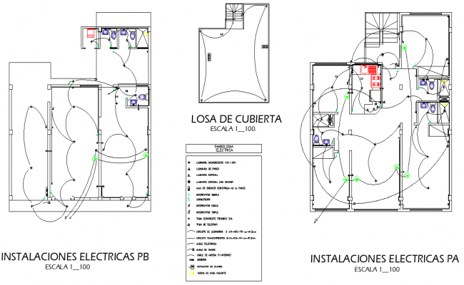 Installation electrical home plan autocad file