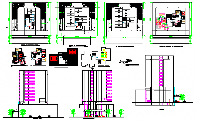 Installation of air conditioning building design drawing