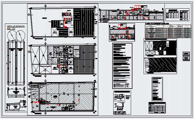 Installation of pressurization system in industrial area design drawing