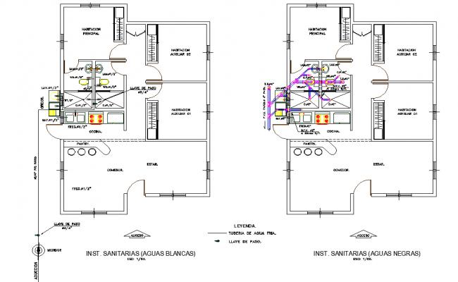Installation sanitary layout file