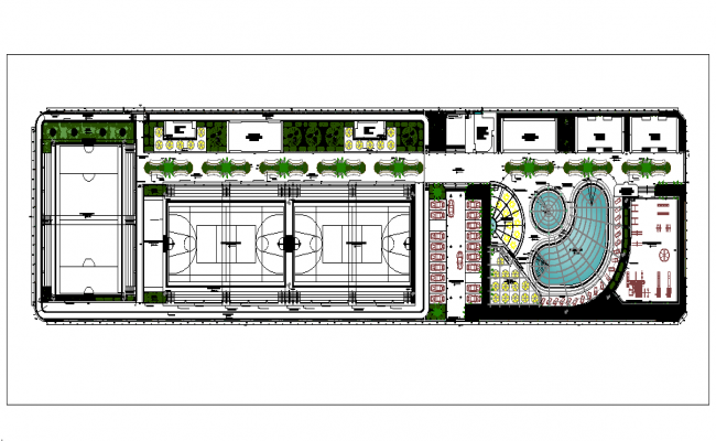 Institute building layout dwg file