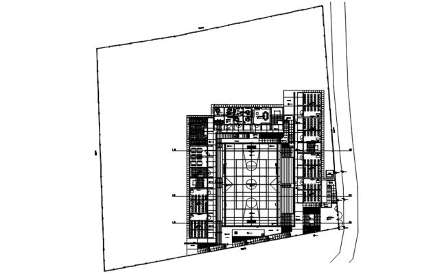 Institute layout in dwg file