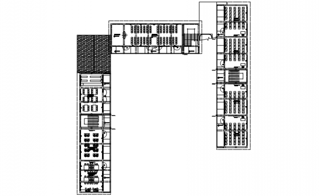 Institute layout in dwg file