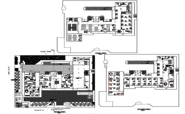 Institutional Building CAD Plan Download