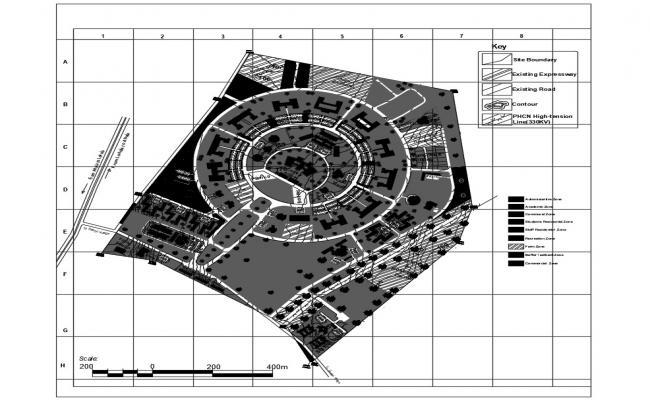 Institutional Buildings Architecture Plan