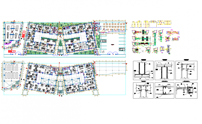 Institutional office Design in DWG file