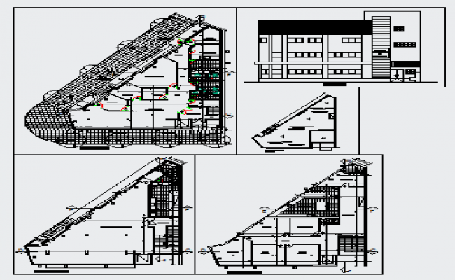Institutional project of union design drawing