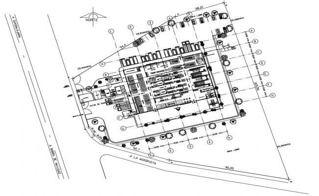 Integrated commerce office building plan dwg file