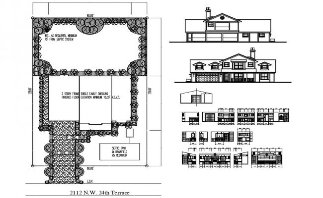 Interior House Design AutoCAD File