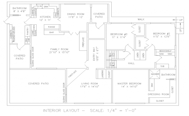 Interior House Lay-out  Design