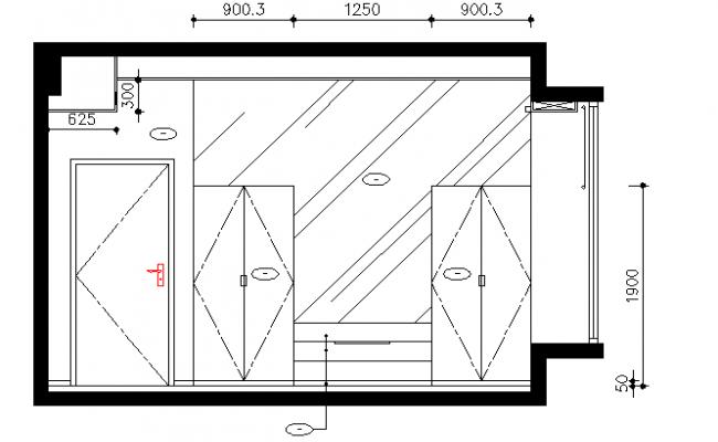Interior decoration furniture details dwg file