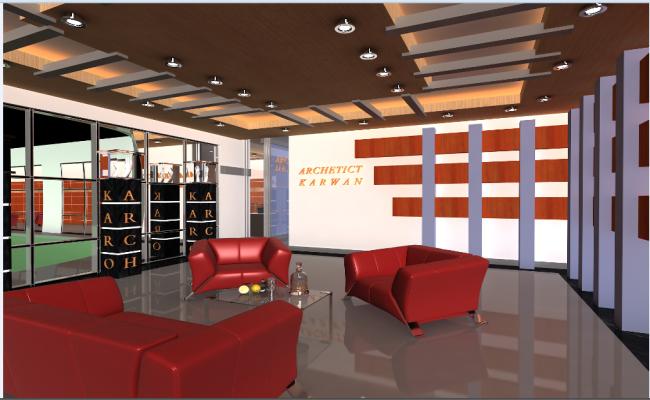 Interior design details of jewelry showroom dwg file