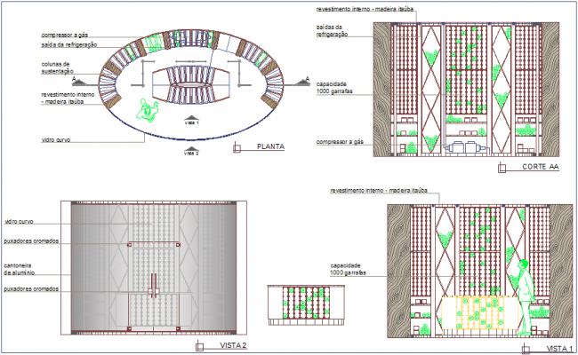 Interior design for cellar project