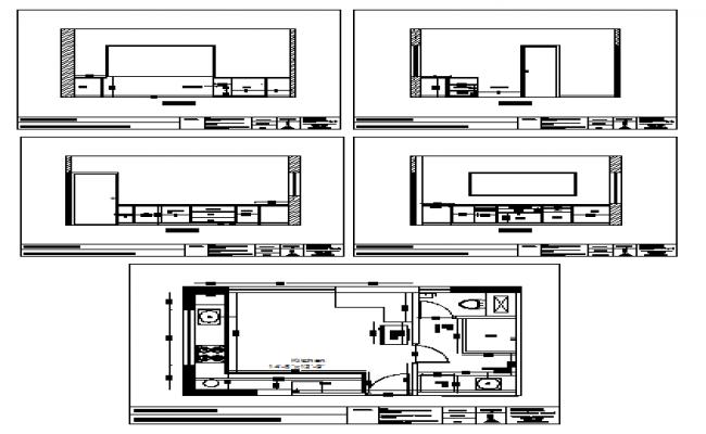 Interior Design Of Kitchen Detail Design Drawing