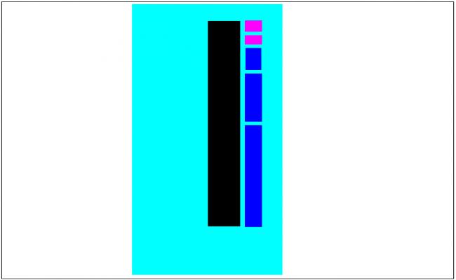 Interior door design view dwg file