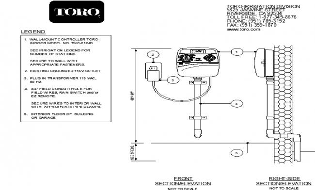 Interior wall mount controller detector