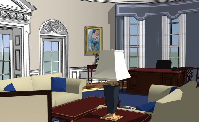 Interiors of a Study Room