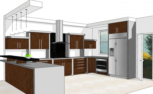 Interiors Of A Modern Modular Kitchen