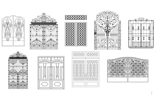 Iron gates plan detail dwg
