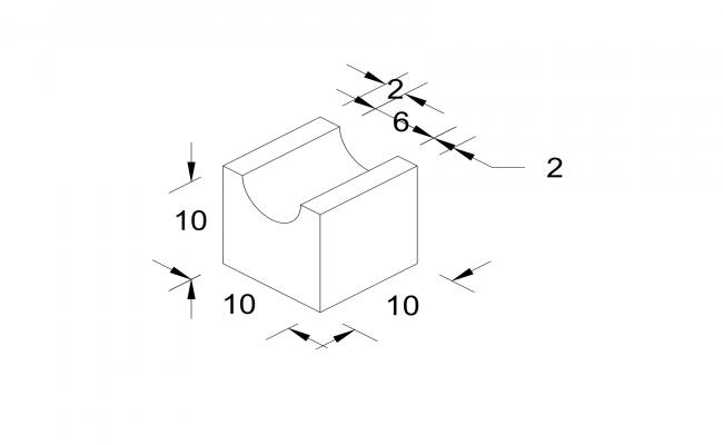 Isometric Cut Block