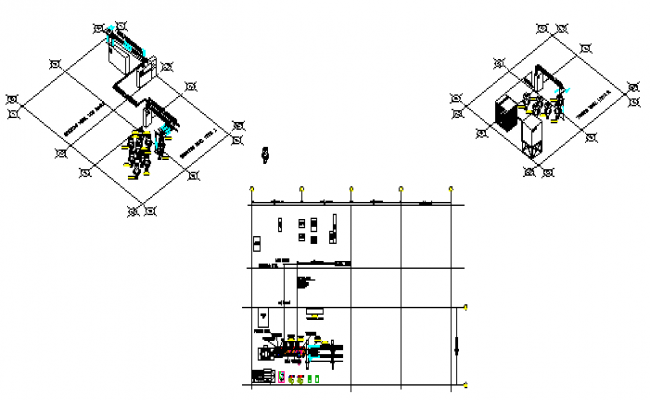 Isometric design drawing of electrical layout design