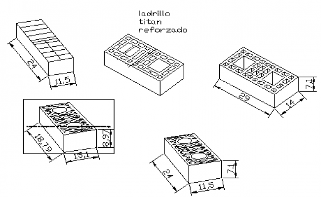 Isometric design of Brick work design drawing