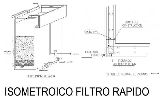 Isometric filter plant autocad file