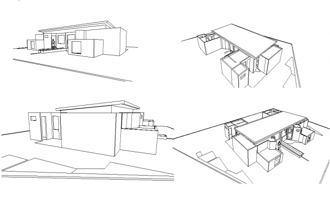 Isometric home view plan detail autocad file