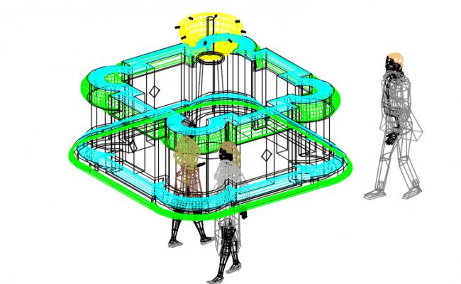 Isometric plan detail dwg file