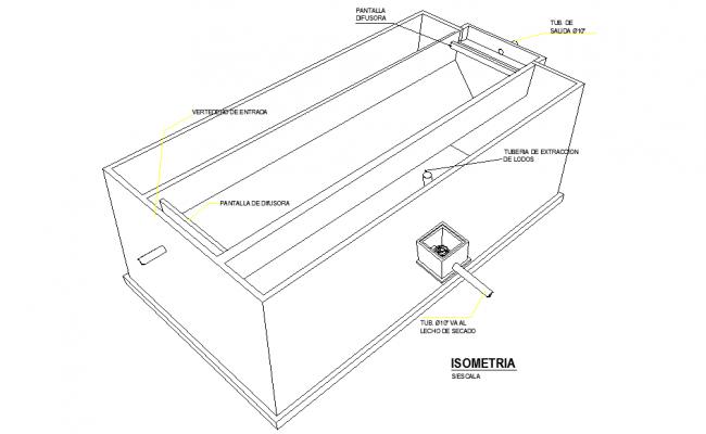 Isometric tank detail dwg file