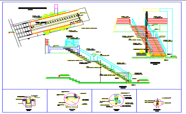 Isometric View Design Of Stair Case Design Drawing