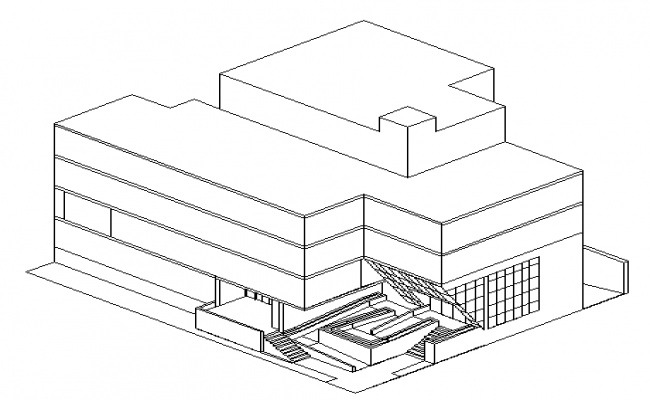 Isometric view of multi family housing design drawing