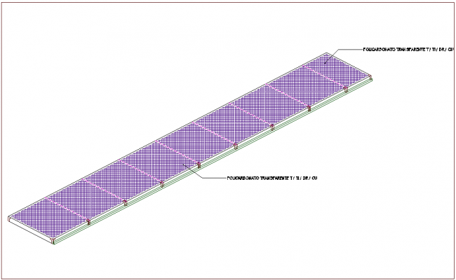 Isometric view of poly carbonate interior view dwg file