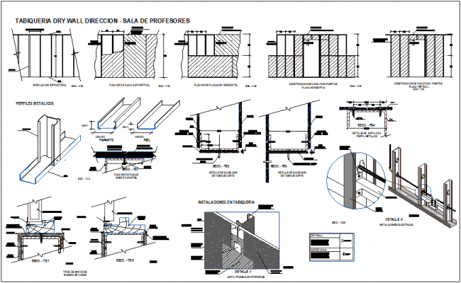 Isometric view of steel structural view of channel with steel structural view for education center dwg file
