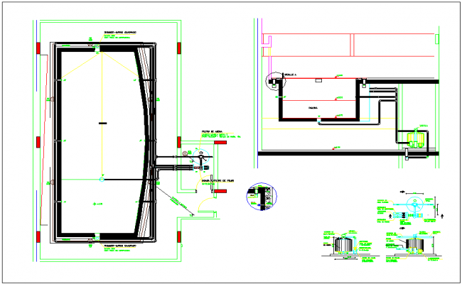 Jacuzzi plan view design layout