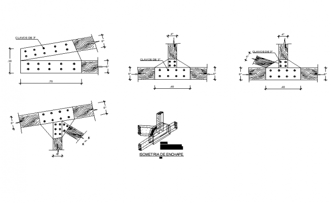 Joint section detail autocad file