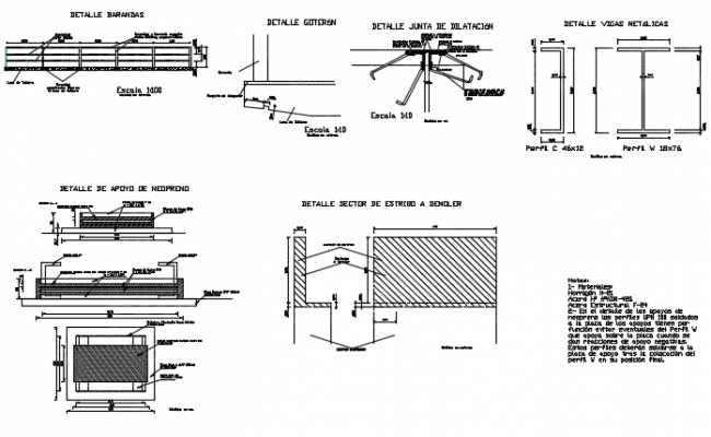 Joint section detail dwg file