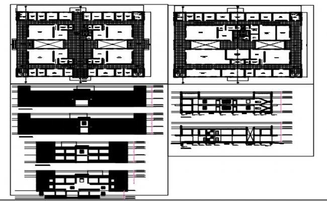 Judicial court layout plan and elevation dwg.