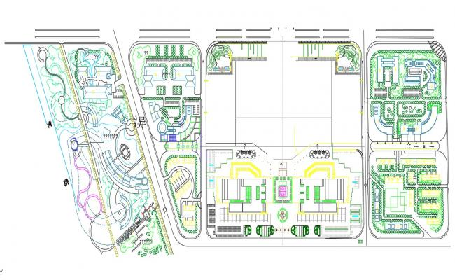 Key Plan Of Residential Area AutoCAD File